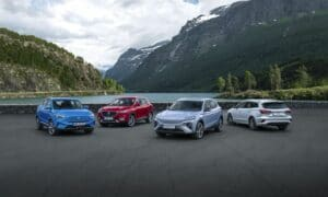 MG Range Photography with ZS EV MCE, MG5, MARVEL R, EHS PHEV