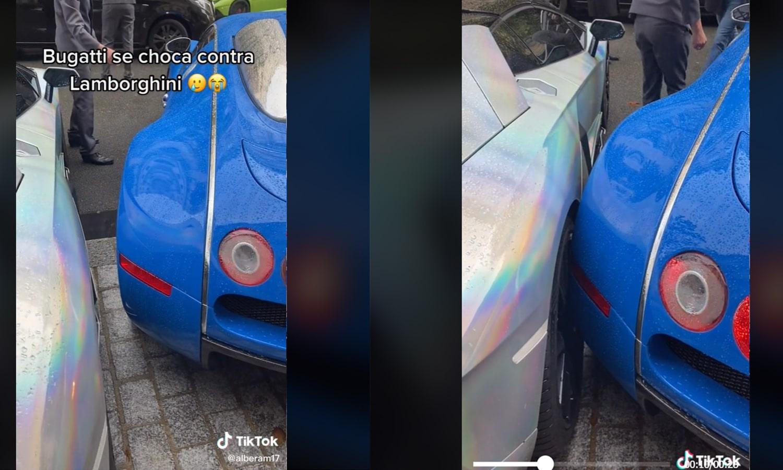 Vídeo viral choque Bugatti Lamborghini